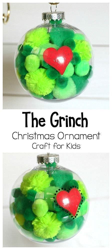 absolutely adorable grinch homemade christmas ornament
