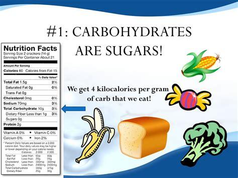 carbohydrates kilocalories per gram biomolecules ppt
