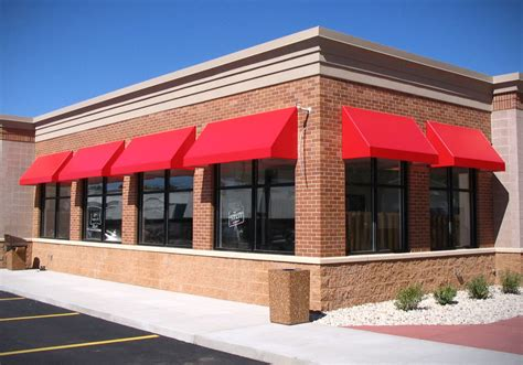 Red Awning Back Lit Awnings Northrop Awning Company