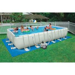 Backyard Pools Walmart Intex 24 X 12 X 52 Quot Rectangular Ultra Frame Swimming Pool Walmart
