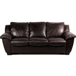 Plush Leather Sofa Plush Leather Sleeper Sofa Near New Condition