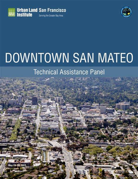 San Mateo Search Uli Report Downtown San Mateo