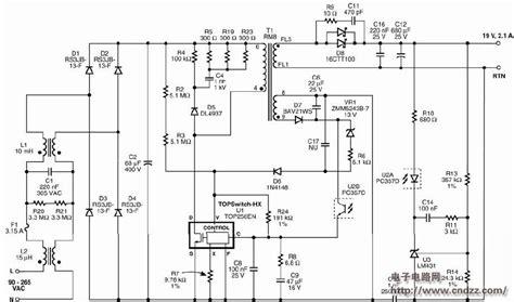 Top256en 采用top256en设计的40w mini笔记本电源适配器 附电路图 物料清单 规格文件 印刷电路板布局 其他电源电路converter 电源电路 电路图 cndzz电子电路网