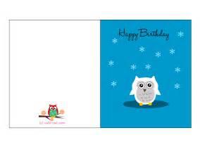 free printable owl birthday cards
