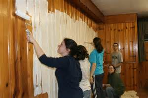 Can You Paint Laminate Cabinets Paint Over Paneling Painted Wood Paneling Before And