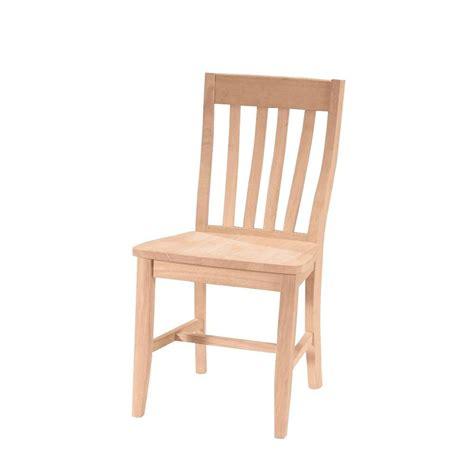 Wood Dining Chairs Unfinished International Concepts Unfinished Wood Dining Chair Set Of 2 C 61p The Home Depot