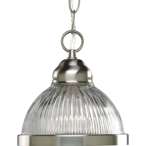 Brushed Nickel Mini Pendant Lights Progress Lighting 1 Light Brushed Nickel Mini Pendant P5080 09 The Home Depot