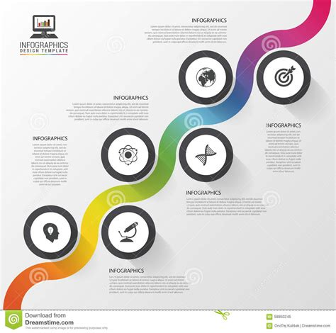 Abstract Colorful Business Path Timeline Infographic Template Vector Illustration Stock Vector Career Infographic Template