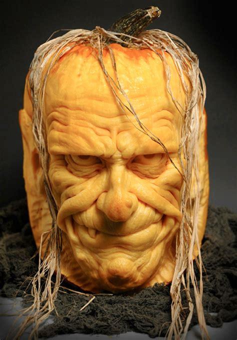 impressive pumpkin carving by ray villafane senses lost