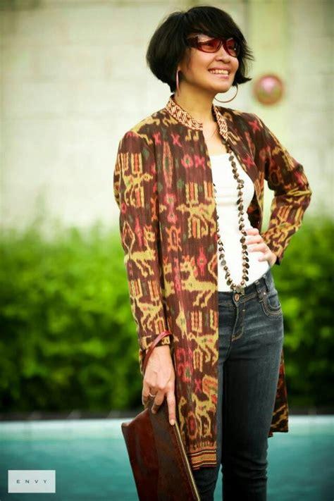 Blouse Cardi Tenun batik casual amazing batik n ikat coats