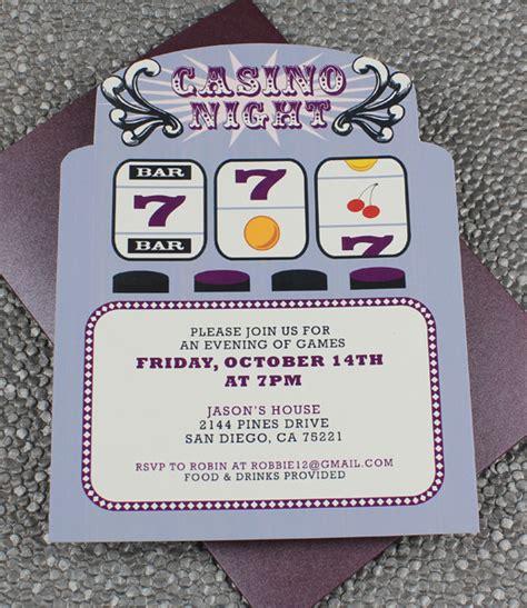 Casino Night Invitation Template Orderecigsjuice Info Casino Birthday Invitation Templates