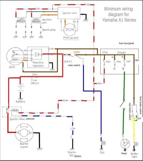 yamaha xj 650 maxim wiring diagram wiring diagrams