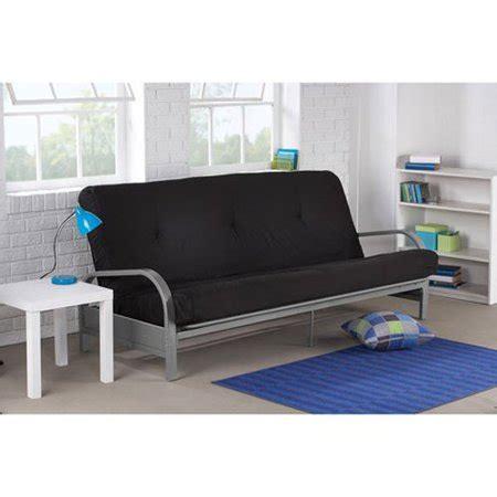 futon walmart mainstays metal arm futon in black color walmart