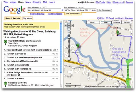 maps adds walking directions tidbits