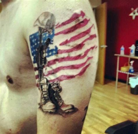 military tribute tattoo designs fallen soldier dre artist