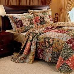 Patchwork Quilt Bedding Sets Country Patchwork Quilt Bedspread Set Oversized 120 X 118 King New Ebay