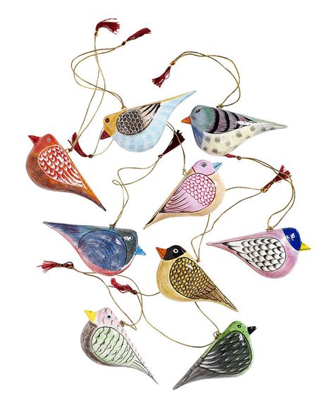 Horseshoe Decorations For Home hand painted wooden birds by bell amp blue