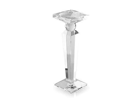 Candelieri Cristallo Candeliere Obelisco In Cristallo Hervit Mis 41 H Cm