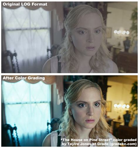 color grade before and after color grading a the is
