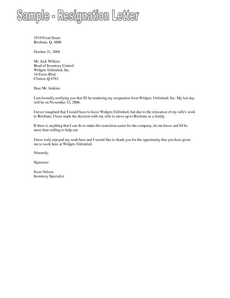 resignation letter template in word format copy short letter