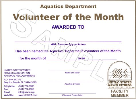 volunteer of the year certificate template best