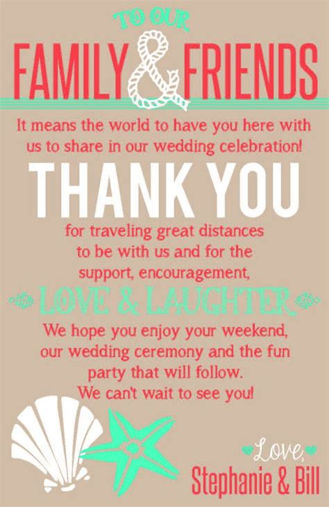 thank you letter to and for wedding themed wedding welcome bag thank you note printable