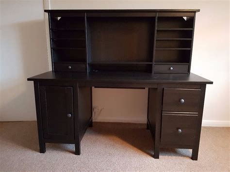 ikea hemnes desk ikea hemnes desk with add on unit black brown ideal for home office or study space in