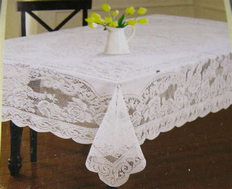 floral lace tablecloths assorted sizes white and cream
