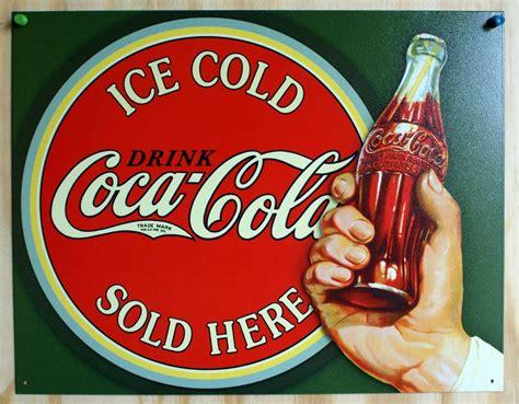 Imágenes Retro Soda | coca cola sold here tin sign soda pop coke pepsi classic