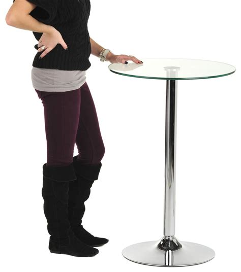 modern high top table glass high top table modern dining and bar display