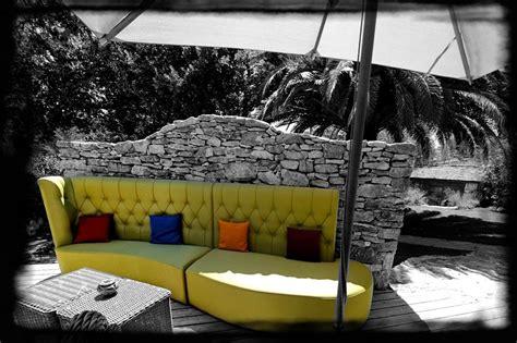 canapé terrasse banquette terrasse design