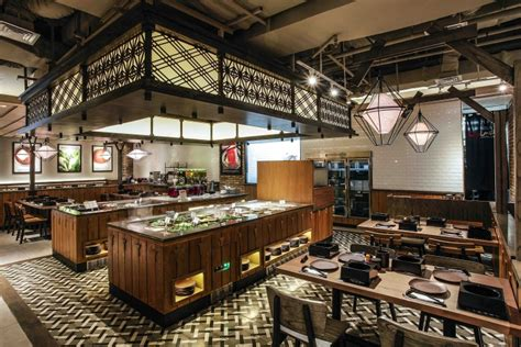 design cafe di indonesia shaburi restaurant by metaphor interior at grand indonesia