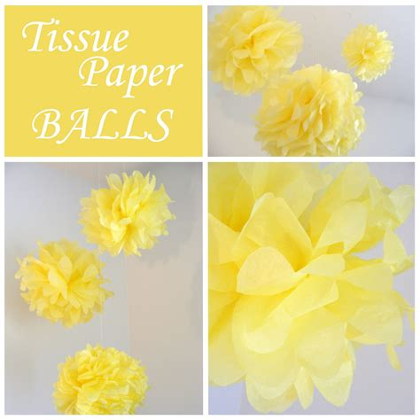 How To Make Paper Balls With Tissue Paper - everyday tissue paper balls