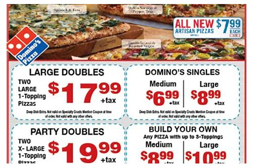 dominos coupons small pizza