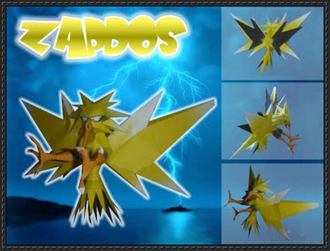Zapdos Papercraft - new paper model zapdos ver 2 free papercraft
