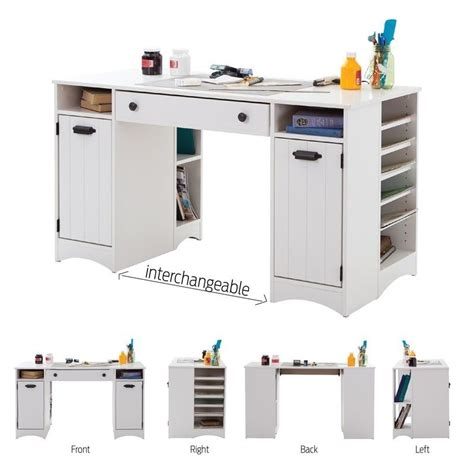 south shore artwork craft table with storage south shore artwork craft table with storage in white