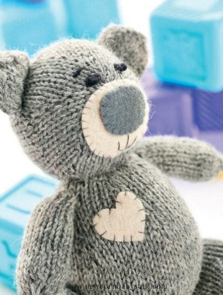 teddy knitting patterns free baby knitting patterns oliver the teddy free knitting