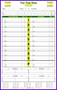 custom college baseball lineup cards 4 part lineup cards