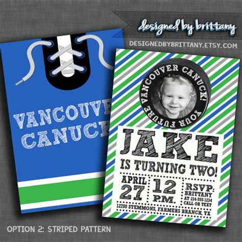 printable vancouver canucks birthday cards 1000 images about hockey invitations on pinterest