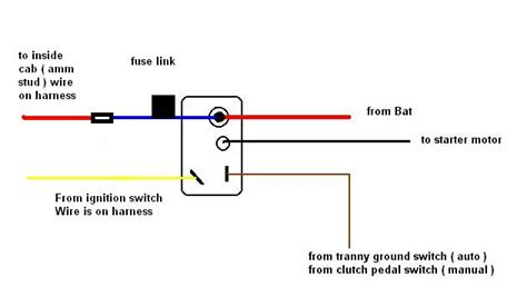 early dodge starter relay wiring diagram early free