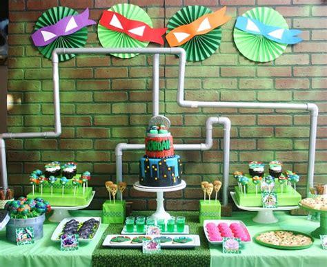 ninja turtle themed birthday party ninja turtle party ideas tmnt moms munchkins