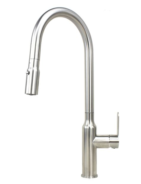 single handle kitchen faucet kf 500 strictly sinks flute style solid stainless steel lead free single handle