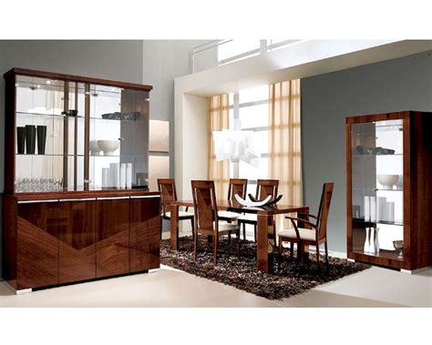 high end dining room sets eground gloss height table bar modern dining set in high gloss walnut finish 33d61