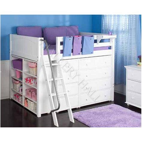 girls loft bed with desk teen girls loft bed with desk girls white mid loft bed