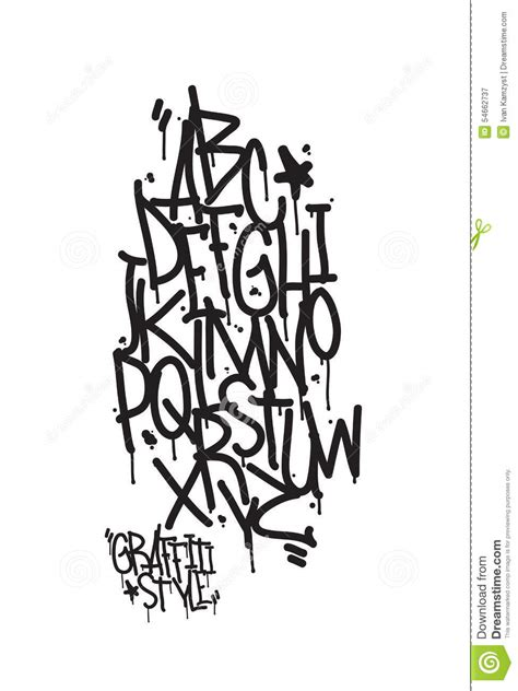 graffiti alphabet letters of the alphabet written with a