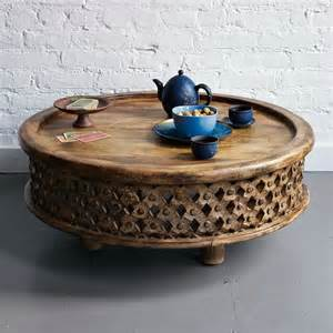 Carved Wood Coffee Table Carved Wood Coffee Table Eclectic Coffee Tables By West Elm