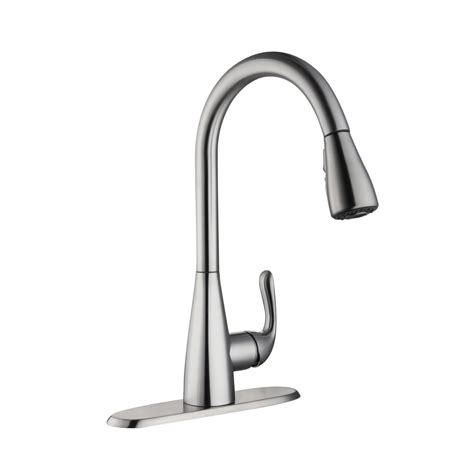 glacier bay kitchen faucets glacier bay carla single handle pull sprayer kitchen faucet in stainless steel hd67826