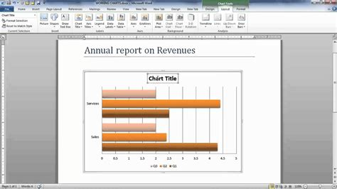 word graph layout how to modify chart data in microsoft word 2010 youtube