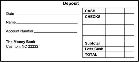 Bank Deposit Slip Template Download Templates Resume Exles Wla07kryvk Deposit Slip Template For Quickbooks