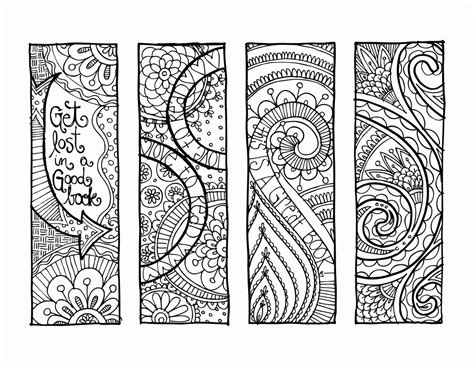 printable animal bookmarks to color free coloring pages for adults bookmarks az coloring pages
